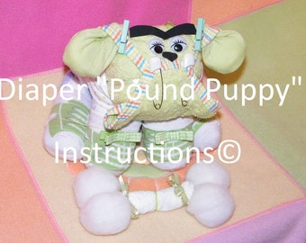 instructions for mini diaper cakes