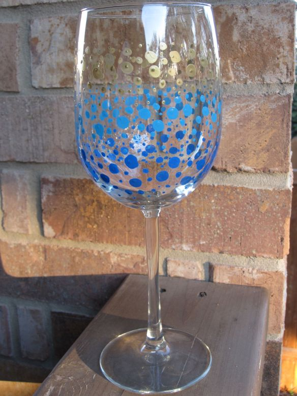 baking instructions for painted wine glasses