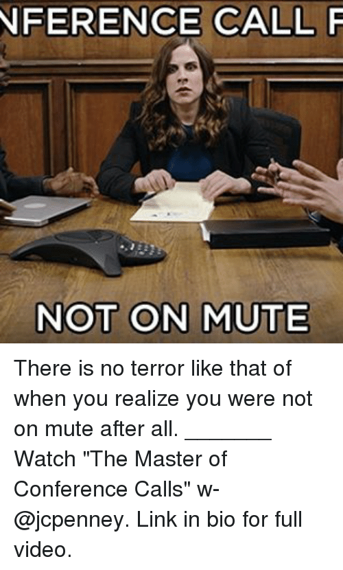 mute a conference call instructions