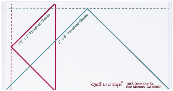 instructions for small flying geese ruler quilt in a day