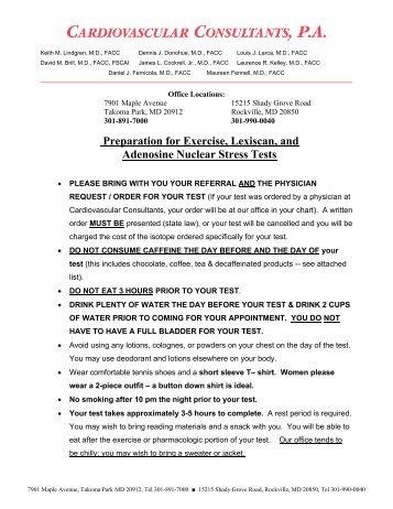 cardiolite stress test instructions