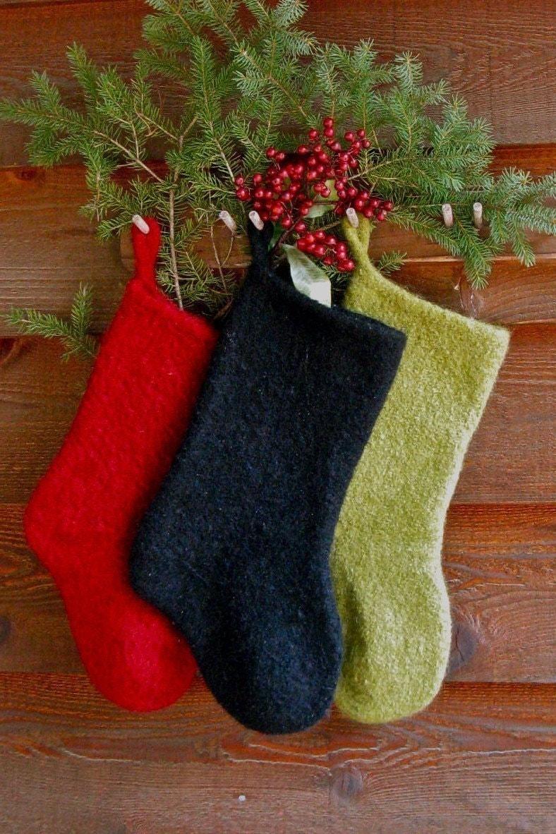 wet felted christmas stocking instructions