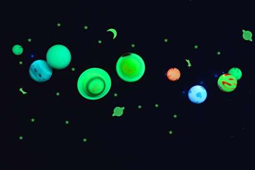 solar system model instructions glowing