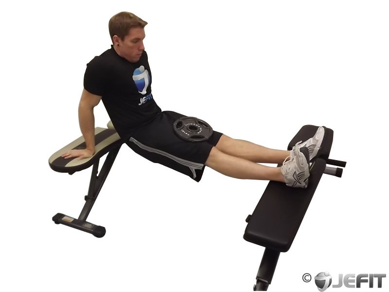 tricep bench dips instructions