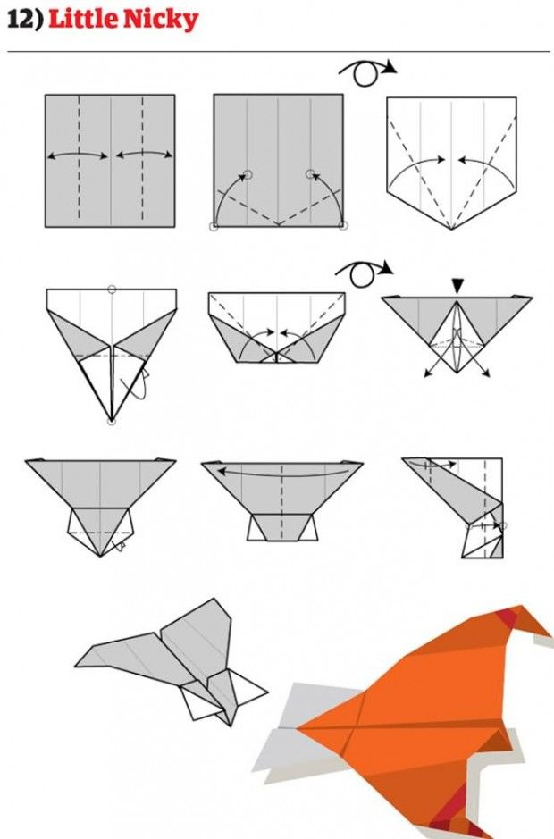cool paper airplanes with picture instructions