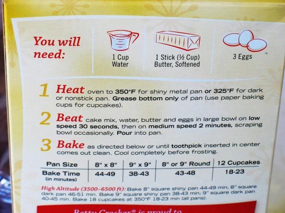 betty crocker cooking instructions