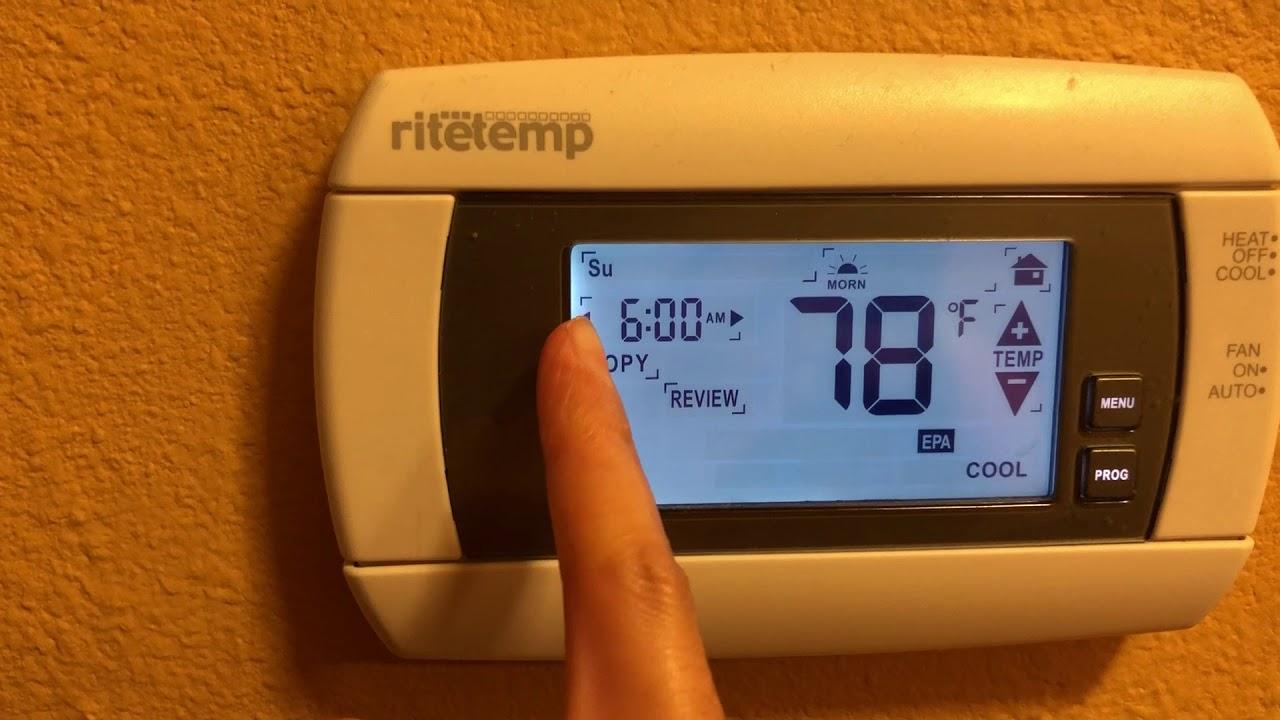 ritetemp thermostat instructions 8030