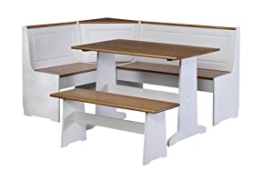 essential home 3 piece emily breakfast nook in pine instructions