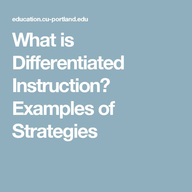 differentiated instructional strategies chapman