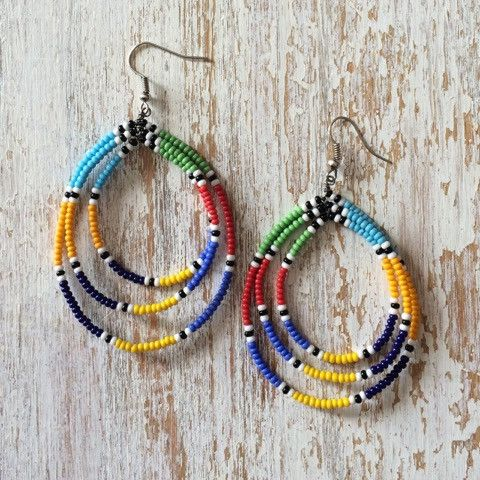 native beaded hoop earrings instructions