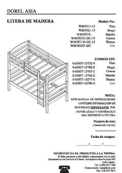 bed assembly instruction manual