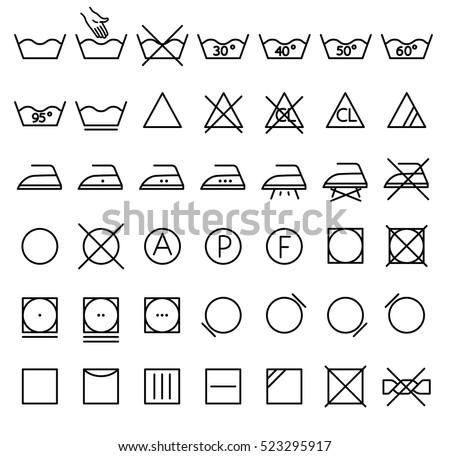 laundry wash instruction labels dry clean label