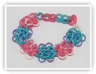 triple single rubber band bracelet instructions
