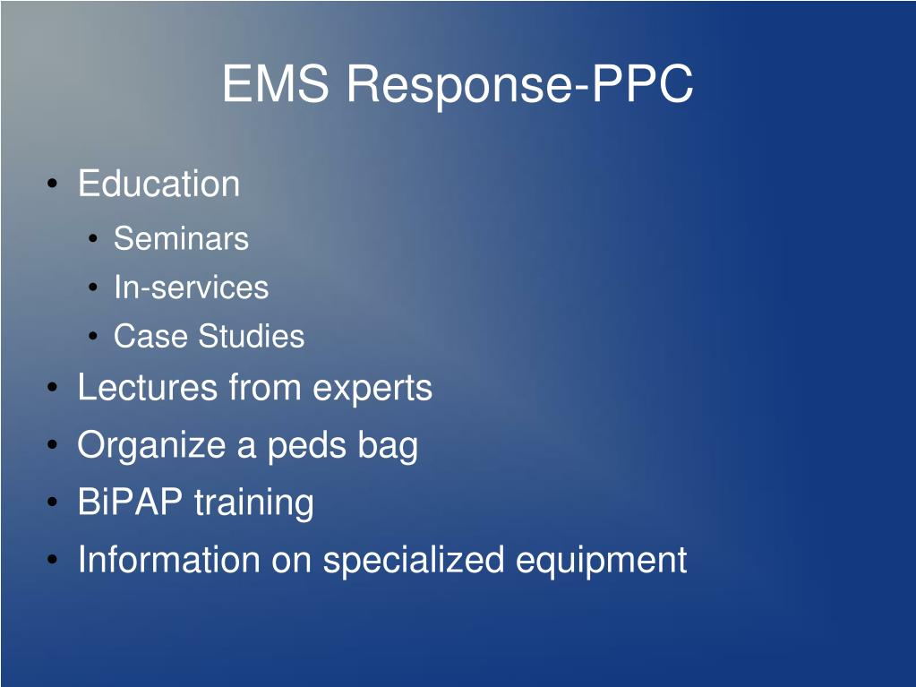 emt instructions in ems in powerpoint