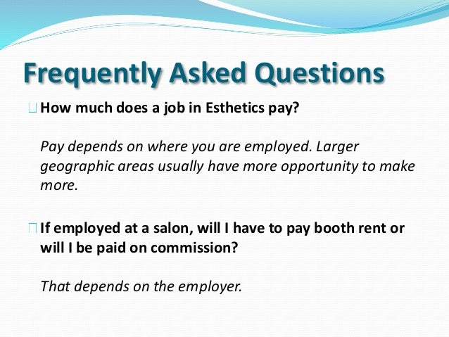 how much esthetician instructer make