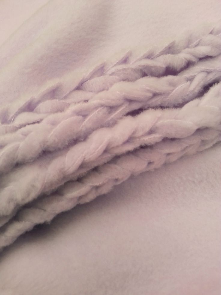 no sew braided blanket instructions
