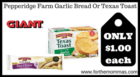 pepperidge farm garlic toast cooking instructions