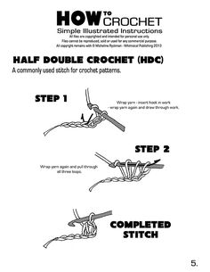 step by step instructions to learn how to crochet