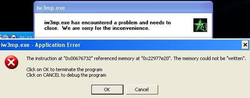 the instruction at referenced memory fortnite